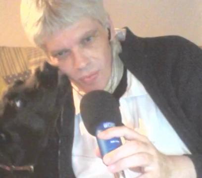 Ayla von der Hardt und Andreas Klamm während einer Fernseh-Live-Sendung. Foto: oterapro