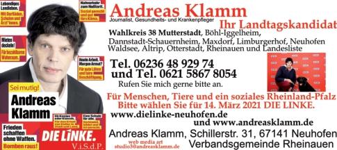 Andreas Klamm Landtagskandidat Politische Ziele